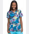 Photograph of Dickies Prints Women's V-Neck Top Aquatic Garden DK704-AQGA