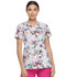 Photograph of Dickies Dickies Prints V-Neck Top in Dragonfly Fields