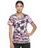 Photograph of Dickies Prints Women's V-Neck Top Peek A Blooms DK709-PKMS