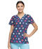 Photograph of Dickies Dickies Prints V-Neck Top in Polka Dot Power