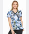 Photograph of Dickies Prints Women's Mock Wrap Top Brush With Beauty DK714-BURH