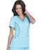 Photograph of Xtreme Stretch Women's V-Neck Top Blue DK715-ITQZ