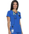 Photograph of Xtreme Stretch Women's Contrast Piping V-Neck Top Blue DK715-RYLZ