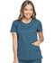 Photograph of Dynamix Women's Rounded V-Neck Top Blue DK720-CAR