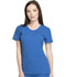 Photograph of Dynamix Women's Rounded V-Neck Top Blue DK720-ROY