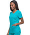 Photograph of Dickies Dynamix Women's Rounded V-Neck Top Blue DK720-TLB