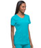 Photograph of Dynamix Women's Rounded V-Neck Top Blue DK720-TLB
