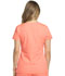 Photograph of Dynamix Women's Rounded V-Neck Top Orange DK720-VCRL