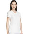 Photograph of Dynamix Women's Rounded V-Neck Top White DK720-WHT