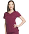 Photograph of Dickies Dynamix Rounded V-Neck Top in Wine
