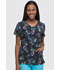 Photograph of Dickies Dynamix Women's V-Neck Top Patchwork Of Art DK723-PAWO