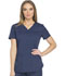 Photograph of Dickies Dynamix Women V-Neck Top Blue DK730-NAV