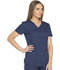 Photograph of Dickies Dynamix Women's V-Neck Top Blue DK730-NAV