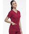 Photograph of Dickies Dynamix Women V-Neck Top Red DK730-RED