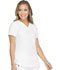 Photograph of Dynamix Women's V-Neck Top White DK730-WHT
