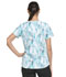 Photograph of Dickies Dynamix Women V-Neck Top Washed Up Tropical Oasis DK731-WATA