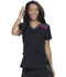 Photograph of Dickies Dynamix Women's V-Neck Top Black DK740-BKHT