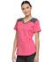 Photograph of Dynamix Women's V-Neck Top Red DK740-DNSU
