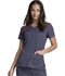 Photograph of Dickies Dickies Dynamix V-Neck Top in Pewter / Red