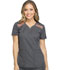 Photograph of Dickies Dynamix Women's V-Neck Top Gray DK740-PWT