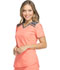 Photograph of Dynamix Women's V-Neck Top Orange DK740-VCRL