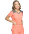Photograph of Dickies Dynamix Women's V-Neck Top Orange DK740-VCRL