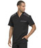 Photograph of Dickies Dynamix Men's Melange Contrast V-Neck Top in Black