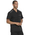 Photograph of Dynamix Men's Men's Melange Contrast V-Neck Top Black DK745-BLK