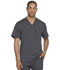 Photograph of Dynamix Men's Men's Melange Contrast V-Neck Top Gray DK745-PWT