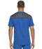 Photograph of Dynamix Men's Men's Melange Contrast V-Neck Top Blue DK745-ROY