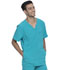 Photograph of Dickies Advance Men's V-Neck Top in Teal Blue