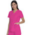 Photograph of Dickies Advance V-Neck Top With Patch Pockets in Hot Pink