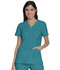 Photograph of Dickies Advance V-Neck Top With Patch Pockets in Teal Blue