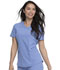 Photograph of Retro Women Mock Wrap Top Blue DK780-CIE