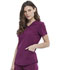 Photograph of Dickies Retro Mock Wrap Top in Wine