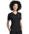 Photograph of Dickies Retro V-Neck Top in Black / Red