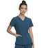 Photograph of Dickies Retro V-Neck Top in Caribbean Blue