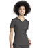 Photograph of Retro Women V-Neck Top Gray DK790-PWT