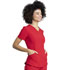 Photograph of Dickies Retro V-Neck Top in Red