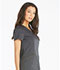 Photograph of Essence Women V-Neck Top Gray DK803-PWT