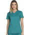 Photograph of Dickies Essence Mock Wrap Top in Teal Blue