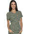 Photograph of Dickies Prints Women's V-Neck Top Get Back in Line Olive DK808-GEOE