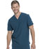 Photograph of Dickies Retro Men's V-Neck Top in Caribbean Blue