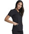 Photograph of Dickies Balance Women's V-Neck Top With Rib Knit Panels Black DK870-BLK