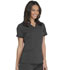 Photograph of Dickies Balance Women's V-Neck Top With Rib Knit Panels Gray DK870-PWT