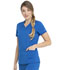 Photograph of Dickies Dickies Balance V-Neck Top With Rib Knit Panels in Royal