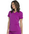 Photograph of Dickies Balance Women's V-Neck Top With Rib Knit Panels Purple DK870-VOCH
