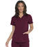 Photograph of Dickies Balance Women's V-Neck Top With Rib Knit Panels Red DK870-WIN