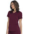 Photograph of Dickies Dickies Balance V-Neck Top With Rib Knit Panels in Wine