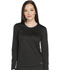 Photograph of Dynamix Women's Long Sleeve Underscrub Knit Tee Black DK900-BLK